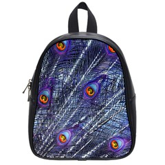 Peacock Feathers Color Plumage School Bag (small)