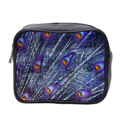 Peacock Feathers Color Plumage Mini Toiletries Bag (two Sides)
