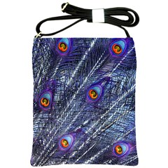 Peacock Feathers Color Plumage Shoulder Sling Bag
