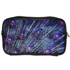 Peacock Feathers Color Plumage Toiletries Bag (two Sides)