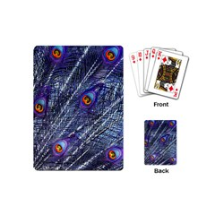 Peacock Feathers Color Plumage Playing Cards (mini)