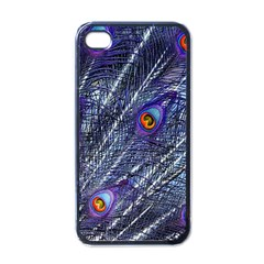 Peacock Feathers Color Plumage Apple Iphone 4 Case (black)