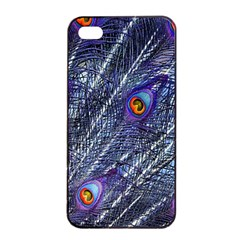 Peacock Feathers Color Plumage Apple Iphone 4/4s Seamless Case (black)