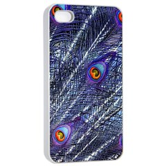 Peacock Feathers Color Plumage Apple Iphone 4/4s Seamless Case (white)