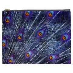 Peacock Feathers Color Plumage Cosmetic Bag (xxxl)