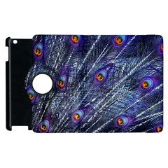 Peacock Feathers Color Plumage Apple Ipad 2 Flip 360 Case