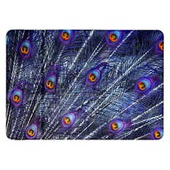 Peacock Feathers Color Plumage Samsung Galaxy Tab 8 9  P7300 Flip Case by Wegoenart