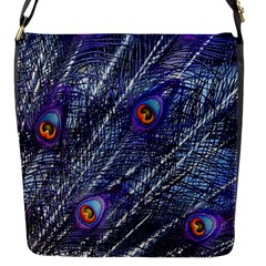 Peacock Feathers Color Plumage Flap Closure Messenger Bag (s)