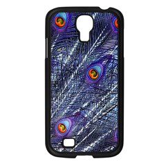 Peacock Feathers Color Plumage Samsung Galaxy S4 I9500/ I9505 Case (black)