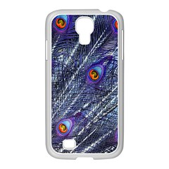 Peacock Feathers Color Plumage Samsung Galaxy S4 I9500/ I9505 Case (white)