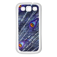 Peacock Feathers Color Plumage Samsung Galaxy S3 Back Case (white) by Wegoenart