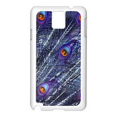 Peacock Feathers Color Plumage Samsung Galaxy Note 3 N9005 Case (white)