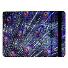 Peacock Feathers Color Plumage Samsung Galaxy Tab Pro 12 2  Flip Case