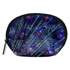 Peacock Feathers Color Plumage Accessory Pouch (medium)