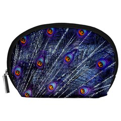 Peacock Feathers Color Plumage Accessory Pouch (large)