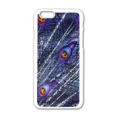 Peacock Feathers Color Plumage Apple Iphone 6/6s White Enamel Case