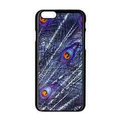 Peacock Feathers Color Plumage Apple Iphone 6/6s Black Enamel Case