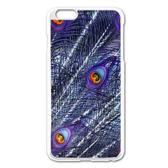 Peacock Feathers Color Plumage Apple Iphone 6 Plus/6s Plus Enamel White Case