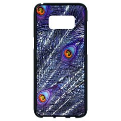 Peacock Feathers Color Plumage Samsung Galaxy S8 Black Seamless Case