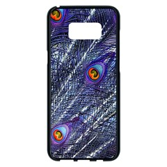 Peacock Feathers Color Plumage Samsung Galaxy S8 Plus Black Seamless Case