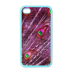 Peacock Feathers Color Plumage Apple Iphone 4 Case (color)