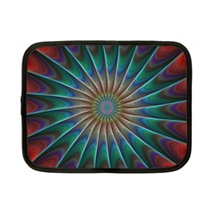 Fractal Peacock Rendering Netbook Case (small)