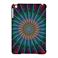 Fractal Peacock Rendering Apple Ipad Mini Hardshell Case (compatible With Smart Cover)