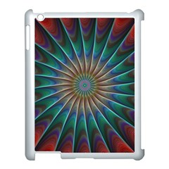 Fractal Peacock Rendering Apple Ipad 3/4 Case (white)