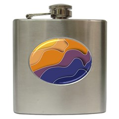 Autumn Copyspace Wallpaper Hip Flask (6 Oz) by Simbadda