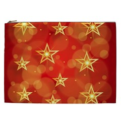 Background Christmas Decoration Cosmetic Bag (xxl) by Simbadda