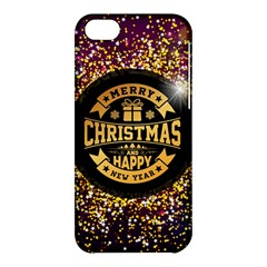 Christmas Golden Labels Xmas Apple Iphone 5c Hardshell Case by Simbadda