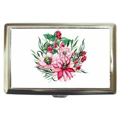 Bloom Christmas Red Flowers Cigarette Money Case by Simbadda