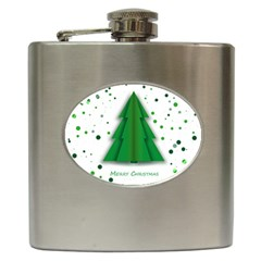 Fir Tree Christmas Christmas Tree Hip Flask (6 Oz) by Simbadda