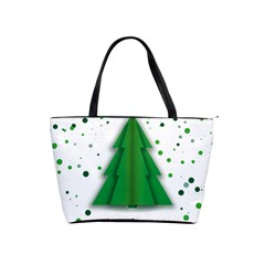 Fir Tree Christmas Christmas Tree Classic Shoulder Handbag by Simbadda