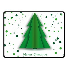 Fir Tree Christmas Christmas Tree Fleece Blanket (small) by Simbadda