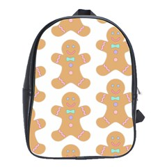 Pattern Christmas Biscuits Pastries School Bag (large) by Simbadda