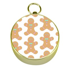 Pattern Christmas Biscuits Pastries Gold Compasses by Simbadda