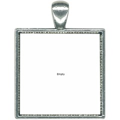 Enough Mirrorx2big Square Necklace