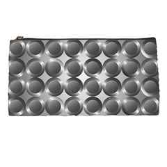 Metal Circle Background Ring Pencil Cases