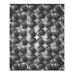 Metal Circle Background Ring Shower Curtain 60  X 72  (medium)  by Simbadda