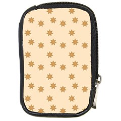 Pattern Gingerbread Star Compact Camera Leather Case by Simbadda
