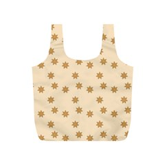 Pattern Gingerbread Star Full Print Recycle Bag (s) by Simbadda