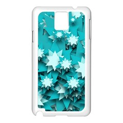 Stars Christmas Ice Decoration Samsung Galaxy Note 3 N9005 Case (white) by Simbadda