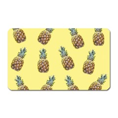 Pineapples Fruit Pattern Texture Magnet (rectangular) by Simbadda