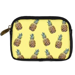Pineapples Fruit Pattern Texture Digital Camera Leather Case by Simbadda