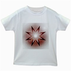 Star Christmas Festival Decoration Kids White T Shirts by Simbadda