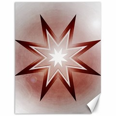 Star Christmas Festival Decoration Canvas 12  X 16  by Simbadda