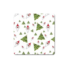 Christmas Santa Claus Decoration Square Magnet by Simbadda