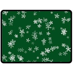 Template Winter Christmas Xmas Fleece Blanket (large)