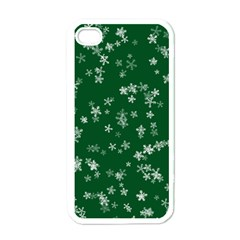 Template Winter Christmas Xmas Apple Iphone 4 Case (white)